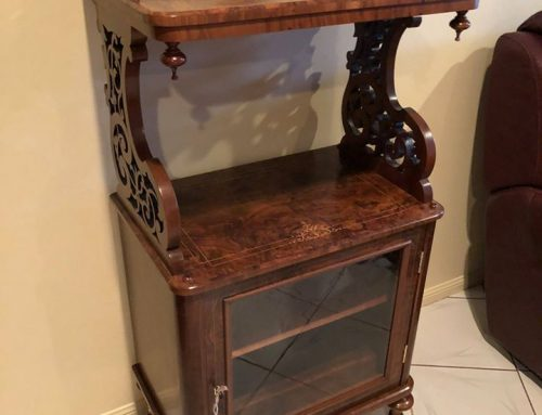 Burl Walnut Dumbwaiter
